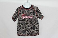 Kid's Athletic Works Basketball T-shirt Black, Tan & Red - Size 8