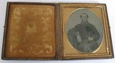 AMBROTYPE  Victorian Gentleman Sixth Plate Photograph in Case