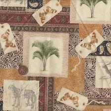 Henry Glass Antique Africa 1726/34 100% Cotton Fabric Fat Quarter Cream