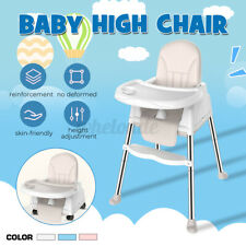 3 in 1 Baby High Chair Adjustable Table Seat Booster Toddler Feeding  US