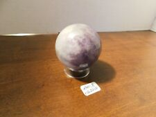 "ONE AMETHYST STONE SPHERE 2"" OR 50MM (NEW) W/PEDESTAL-- AM-3-062718"