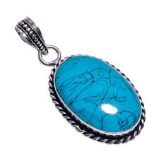 Sterling Silver Overlay Handmade Reconstituted Tibetan Turquoise NLG-388 Girl's