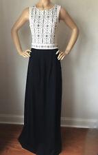NWT St John Knit gown black white size 6  black white santana knit wool rayon