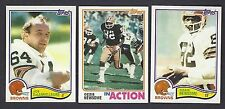 1982 Topps Cleveland Browns Team Set