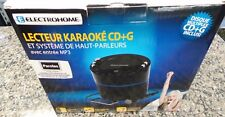 Electrohome Karaoke Machine Speaker System Cd+G Player & Smartphone Aux Input