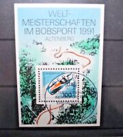 "FRANCOBOLLI GERMANIA GERMANY 1991 ""SPORT INVERNALI"" TIMBRATO USED BLOCK (CAT.9)"
