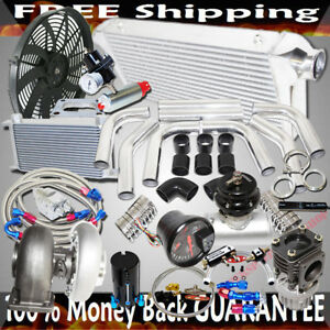 """GT45 Turbo 3"""" Intercooler +Piping+BOV+Oil Cooler Kits Stage III High Performance"""