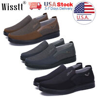 Men's Leather Casual Business Shoes Antiskid Slip on Driving Loafers Moccasins