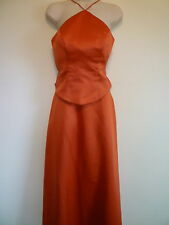 Womens S 4 6 orange bridesmaid cocktail evening formal prom homecoming dress