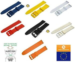TOP QUALITY Resin Strap 17mm (20mm)  for Swatch + FREE PINS included
