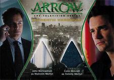 Arrow Season One Costume Wardrobe Card DM3 John Barrowman & Colin Donnell