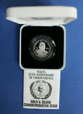 More details for 1989 malta silver proof lm2 coin
