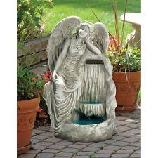 KY2084 - Resting Grace Angel Garden Fountain w/Pump!