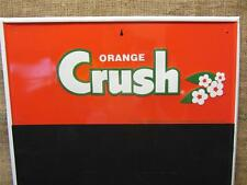 Vintage Embossed Orange Crush Sign Chalkboard > Antique Old Soda Cola 9040