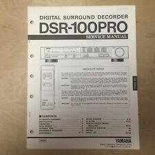 Original Yamaha Service Manual for DSR-100PRO Surround Decoder
