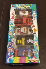 New 2000 Fox Kids Digimon Digital Monsters 5-Pack Metal Vehicle Cars Majorette