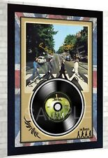 The Beatles Abbey Road SIGNED Autographed FRAMED PRINT & Mini LP  perfect gift