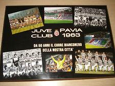 QUADRETTO QUADRO IN LEGNO 42X30 JUVENTUS CLUB PAVIA 50 ANNI DI NOI 1963-2013