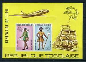 Togo - 1974, Bloc Aerial 77, Factors, Upu, New