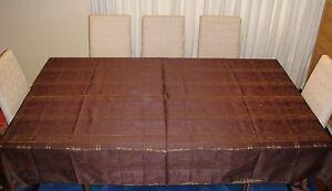 100% Thai Silk Tablecloth Temple Design 150x200cm Many Colours Available