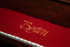 Boston Piano Key Cover - Red Felt Embroidered Keyboard Cover