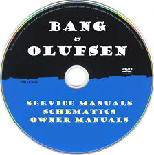 Bang Olufsen Hifi Service Manuals & Schematics- PDFs on DVD - Huge Collection