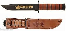 KA-BAR #9105 U.S. ARMY KOREAN WAR COMMEMORATIVE FIGHTING UTILITY KNIFE w/ SHEATH