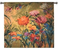 COLOR BURST FLORAL ABSTRACT ART TAPESTRY WALL HANGING 55x53