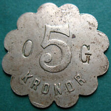 Trade token - jeton - Sweden - OG - 5 Kr.