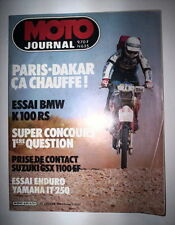 MOTO JOURNAL N°635 1984 PARIS DAKAR / ESSAI BMW K 100 RS