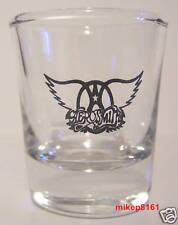 AERO*SMITH THE ROCK BAND LOGO ON A CLEAR SHOT GLASS