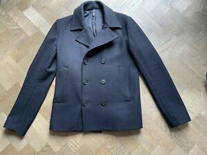 Dior Homme Mens Black Wool Peacoat / Jacket / Coat Size 38 £3,000