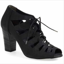 PAUL GREEN Jansen Lace Up Black Color Peep Toe Booties Size 6 (8.5 US) sale