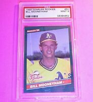 1986 Donruss Rookies #50 Bill Mooneyham RC Graded PSA 9 MINT Rookie SET BREAK
