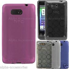 Para HTC HD Mini Funda Silicona Suave de Gel Círculo Sintético Brillo Carcasa
