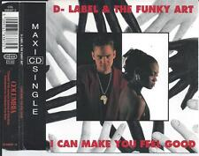 D-LABEL & THE FUNKY ART - I can make you feel good CDM 4TR Euro Hip House  1992