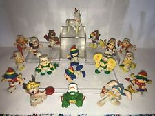 Vintage Rainbow Kids, Lot of 18 Pvc Figures, Wallace Berrie