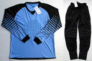 Soccer Goalie Goalkeeper Kit Kids Adult Long Sleeve Jersey & Pants 7607 Sky Blue