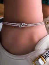 Evil Eye Anklet Bracelet 37-9 Women's Fashion Jewelry Gold Color Rhinestone