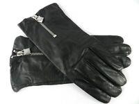 MICHAEL Michael Kors Lock Zipper Leather Gloves ,  M