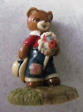 Penni Bear Figurine Pb-011 Giddiap Teddy Cowboy Bear on Stick Horse