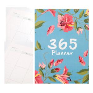 A4 Flower Agendas Schedule Notebook Monthly Daily Planner Diary Organizer