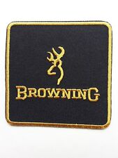 BROWNING SHOOTING GAME CARP FISHING EMBROIDERED IRON-OR SEW ON PATCH UK SELLER