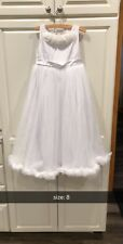 Oopsy Daisy Baby White Dress Sz8