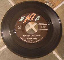 "45 RPM Rock By Jerry Jaye, ""My Girl Josephine"" on Hi"