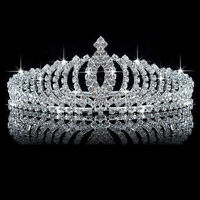 Wedding Bridal Princess Crystal Rhinestone Hair Accessory Tiara Crown Veil Gifts
