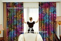 Mandala Hamsa Bohemian Curtains Tapestry Drapes Window Treatment Indian Valance
