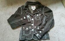 True Religion women's Jackie Big T medium brown corduroy jacket-EUC!