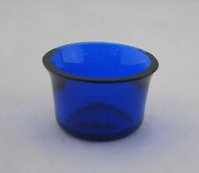 BLUE Glass LINER - CIRCULAR FORM - 40 mm x 24 mm - Replacement Mustard / Salt