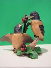 LENOX BABY ORIOLES 1992 BIRDS sculpture  Mint -  NO BOX